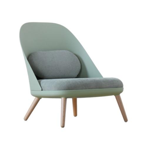 윙 라운지 체어 독서 안락 에그 벤스 의자 1인용, 말차 녹색 플라스틱 뒤 + 말차 녹색 소프트 팩