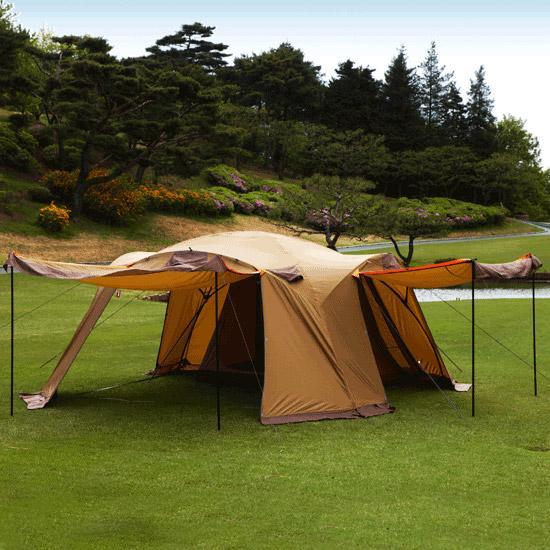 콜핑 캠핑용품 대가족용 텐트 자이언트 리빙쉘 KFN2255U, BROWN