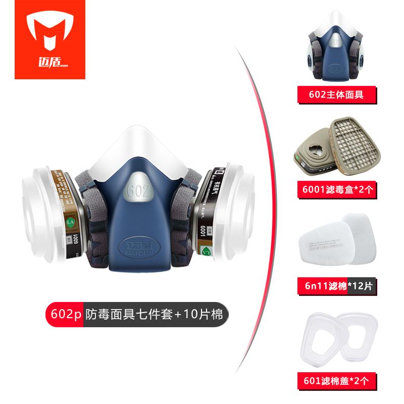 Maidun 가스 마스크 Kn95 방독면 페인트 용 먼지, 10 KN95 필터 코튼