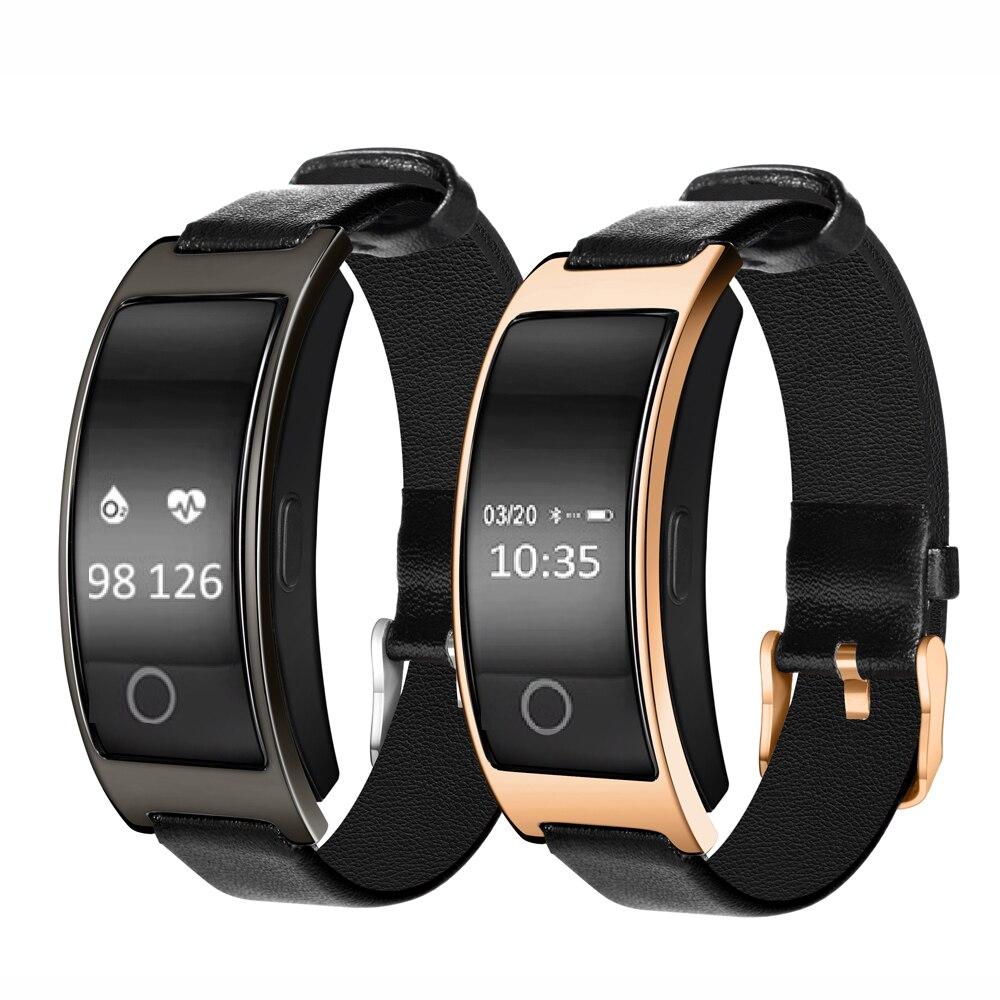 블루투스 스마트 시계 ck11s 팔찌 밴드 혈압 심장 박동 모니터 보수계 피트 니스 smartwatch ios 안 드 로이드 전화에 대 한|스마트 손목 밴드|, 단일(A1), 금(A1)