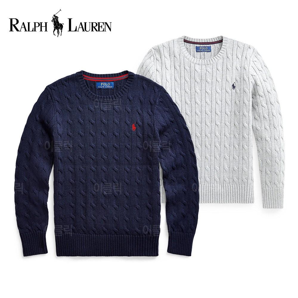 폴로 랄프로렌 케이블 니트 스웨터 여성 보이즈 가을 스웻셔츠 플리스 티셔츠