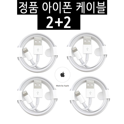 애플 아이폰 정품 케이블 2+2
