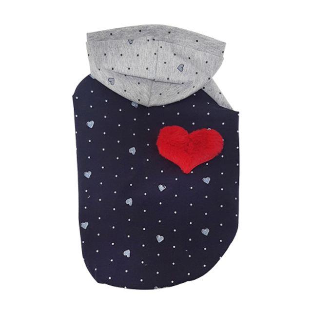 ksw25956 나이트 허니 후드티(네이비) 애견봄가을옷 애견후드티, 네이비|XL