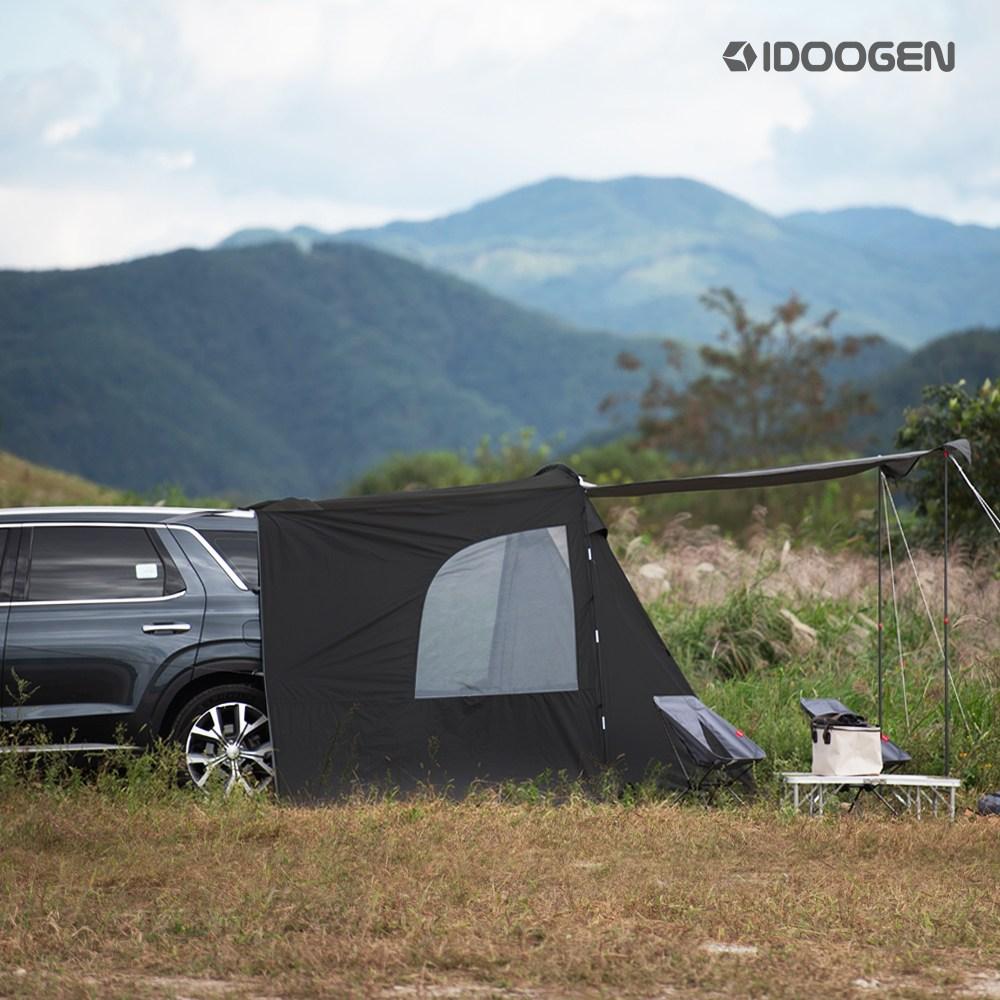 [24일 이후 순차배송]]아이두젠 A2 차박텐트 차량용 캠핑 도킹텐트, 블랙