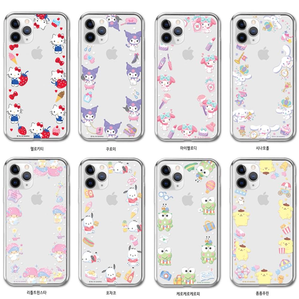 포니애 산리오 캐릭터즈 써클 투명 소프트 젤리 케이스 Vol3 휴대폰