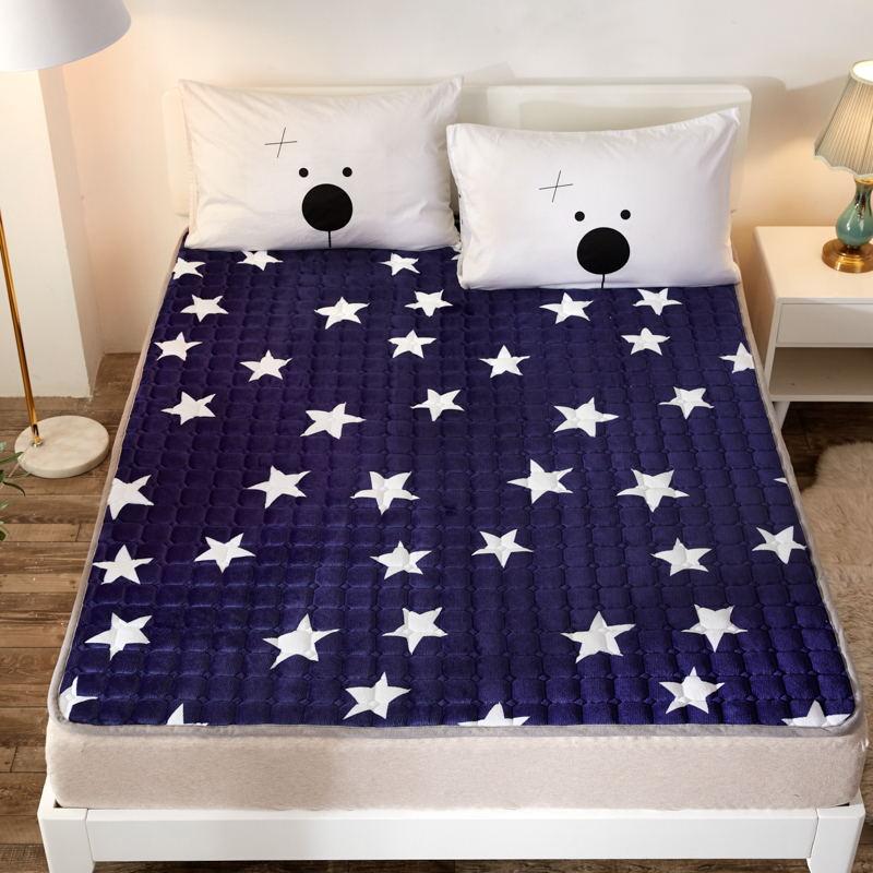 토퍼 템퍼 매트리스 침구 기타 겨울 기모 쿠션 학생 기숙사 싱글 담요 침대, AF_1.0 x 2m