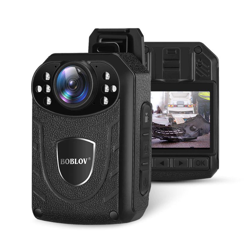 경찰 바디캠 카메라 LCD화질 HD 초고화질 11시간 연속녹화 보안용 블랙박스 캠코더, Police Cam