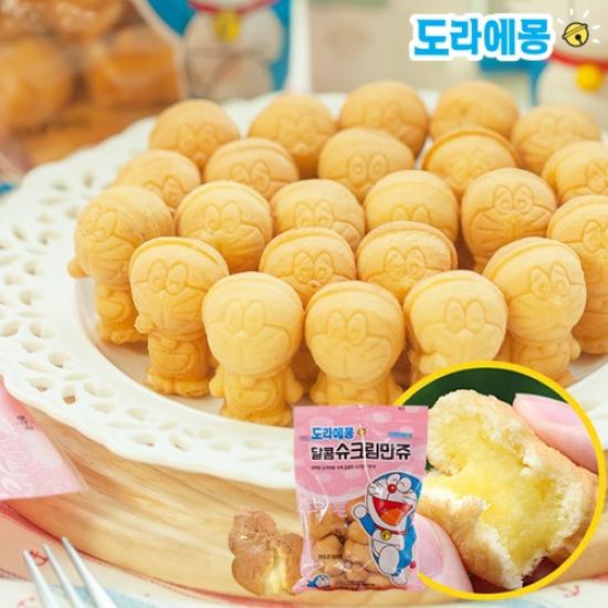 [K쇼핑][만쥬데이]도라에몽 달콤슈크림만쥬130gx5봉(총650g), 단일상품