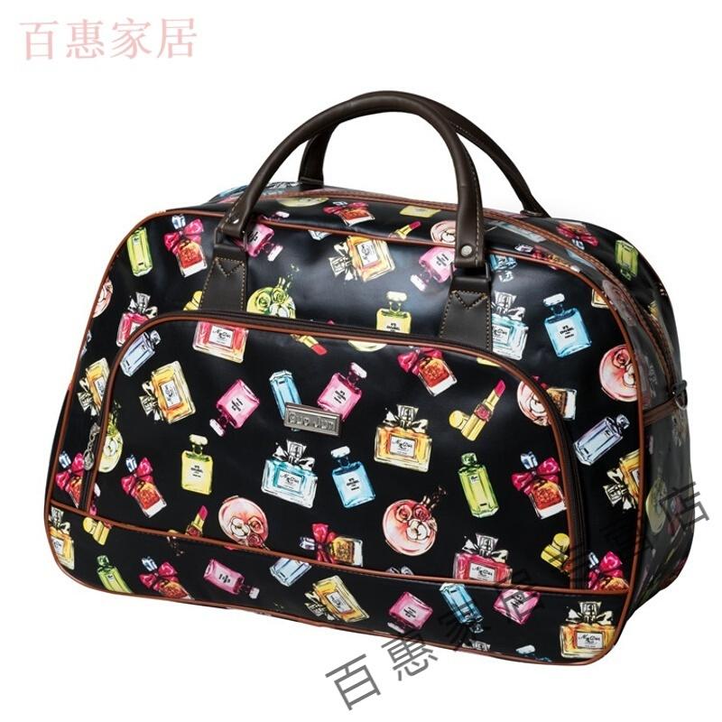 여행 가방 여자 노트 한판 단거리 가볍다 가볍다 대용량 여행 여행 여행 여행 여행 가방 작은 짐 가방 블랙 베이스 향수병 크다