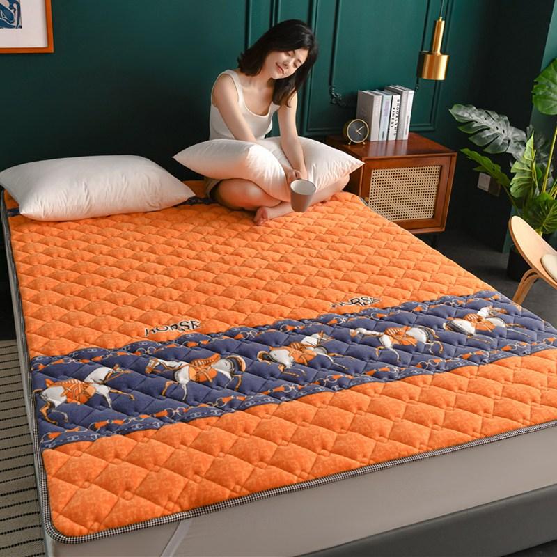 토퍼 템퍼 매트리스 침구 기타 겨울 쿠션 접이식 침대 기모 융털 매트, AA_1.0 x 2.0m