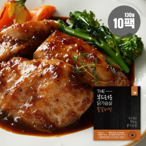 헬스앤뷰티 더 부드러운 닭가슴살 불갈비맛, 130g, 10팩