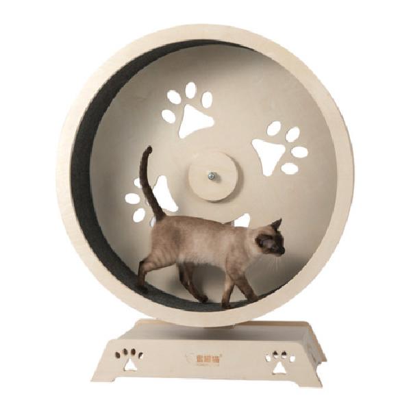 반려동물 고양이 캣휠 무소음 다이어트 러닝머신, 1개, 대형
