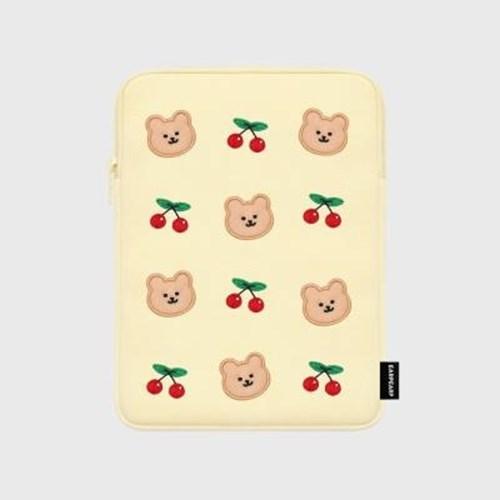 아트박스/어프어프 Dot cherry bear-ivory-ipad pouch(아이패드 파우치)