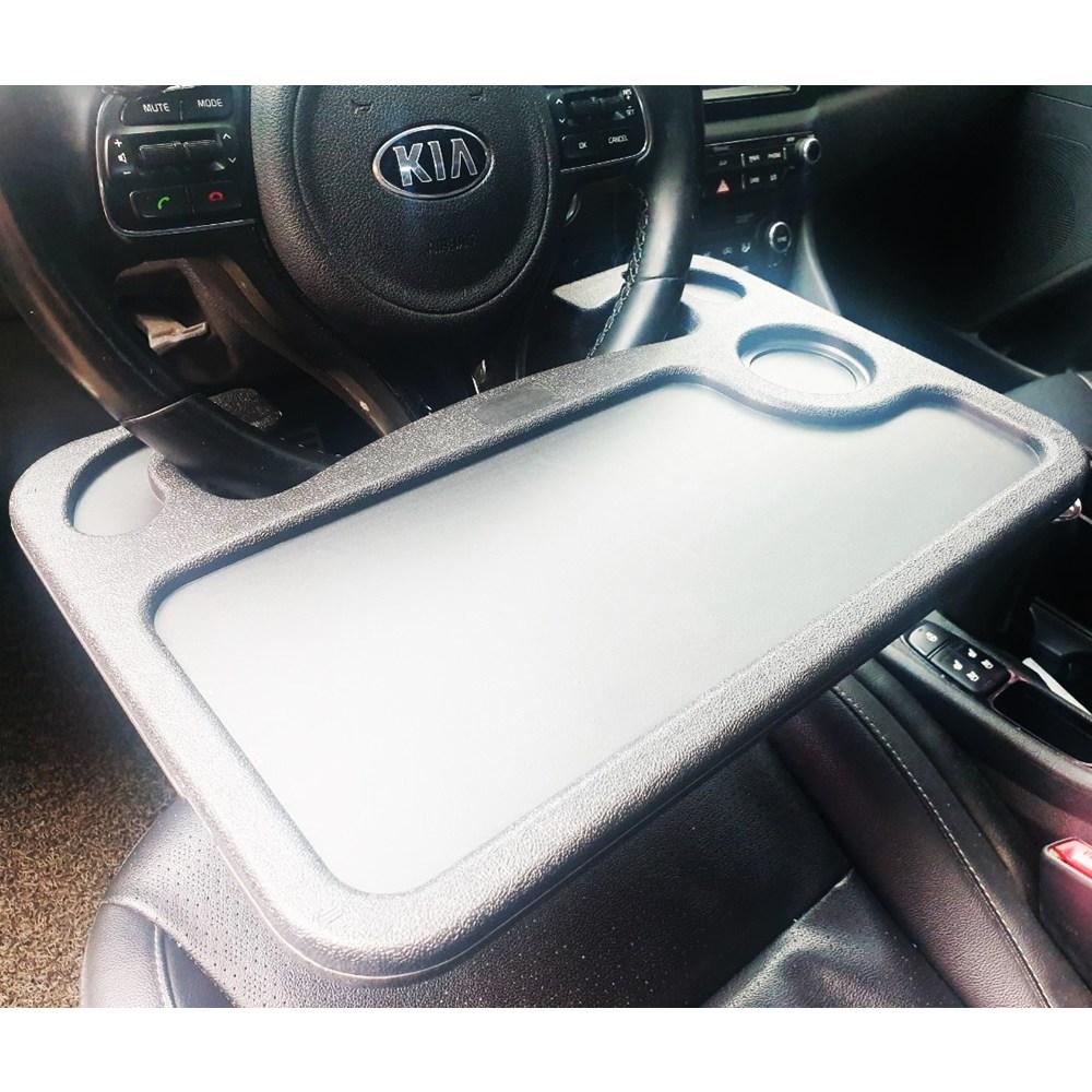 [금일솔루션] 차량용 멀티 운전석 테이블 자동차 식탁 멀티 노트북 핸들 테이블 선반, 소형(검정)