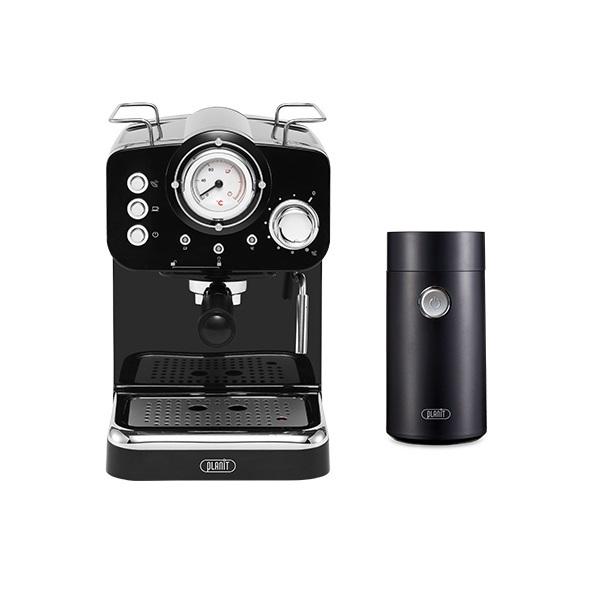 플랜잇 커피머신 홈카페 에디션 + 커피그라인더, PCM-F15W(크림화이트)-7-5359731805