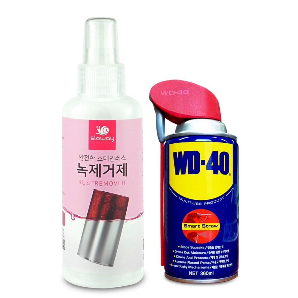 WD-40 방청윤활제 360ml + 슬로웨이 녹제거제 150ml 사은품 전용 브러쉬 1개 증정