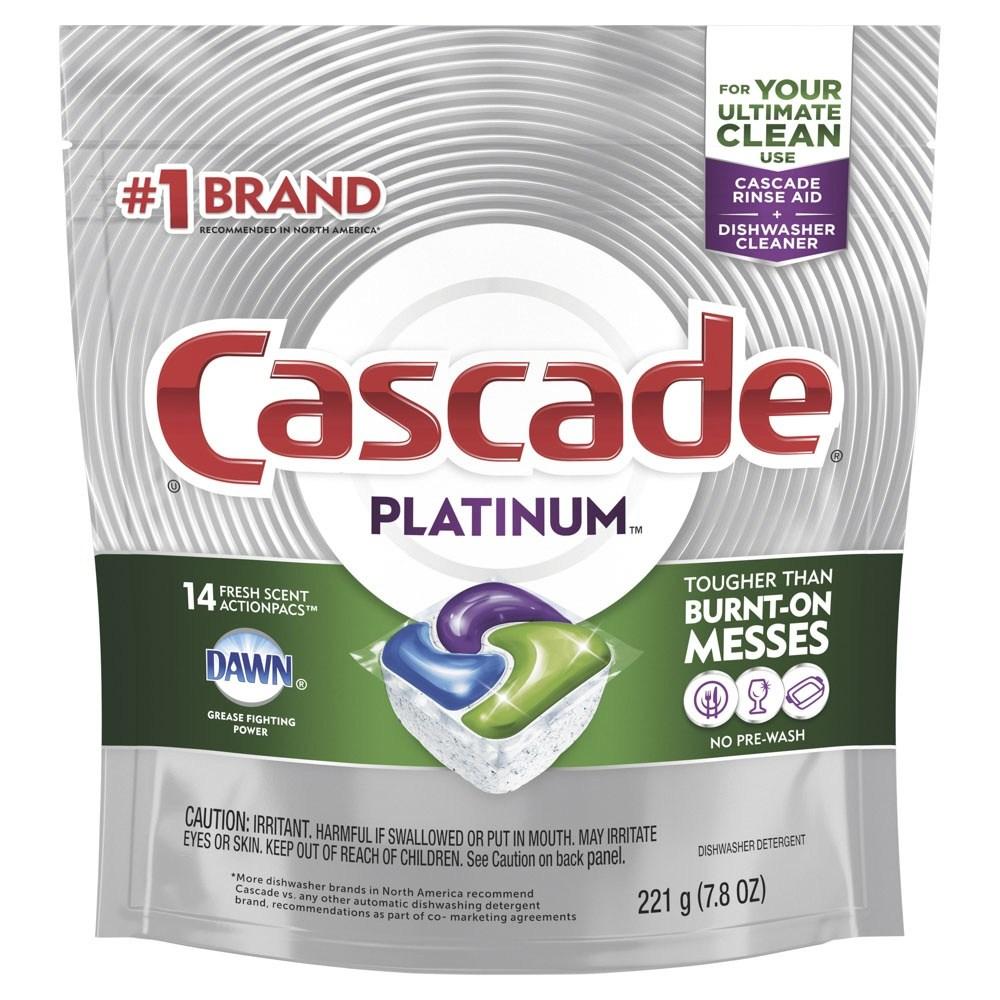 Cascade 플래티넘 디쉬워셔 세제 액션팩 프레시 식기세척기용세제, 1개, 221g