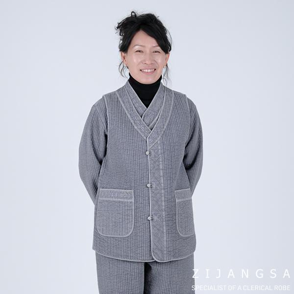 [20010]남여 겨울 누비 브이넥 3피스 생활한복 세트 데일리한복 패션한복 감성한복 절복