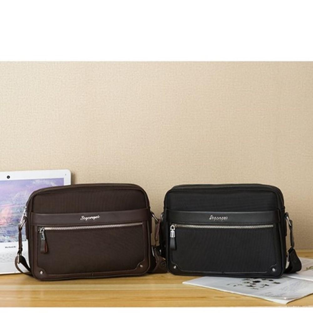 만다리나덕 직장인 데일리백 소지품 수납 보조 소형 가방 브라운