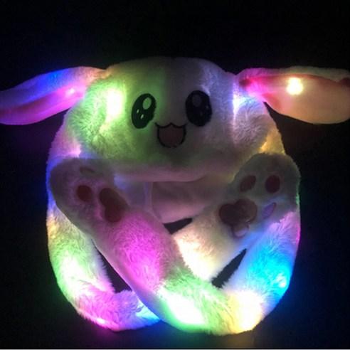MS 움직이는귀 귀쫑긋 토끼귀 동물모자 인싸템 귀달이모자 화이트