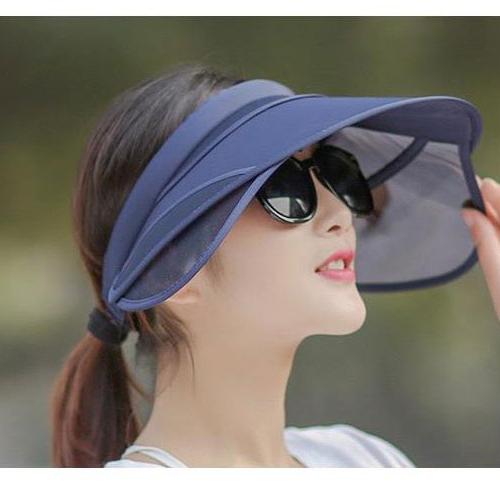 에이치씨컴즈 여성용 여름 썬캡 넓은챙 360도 자외선 햇빛 차단 둘레조절 줄임밴드 901