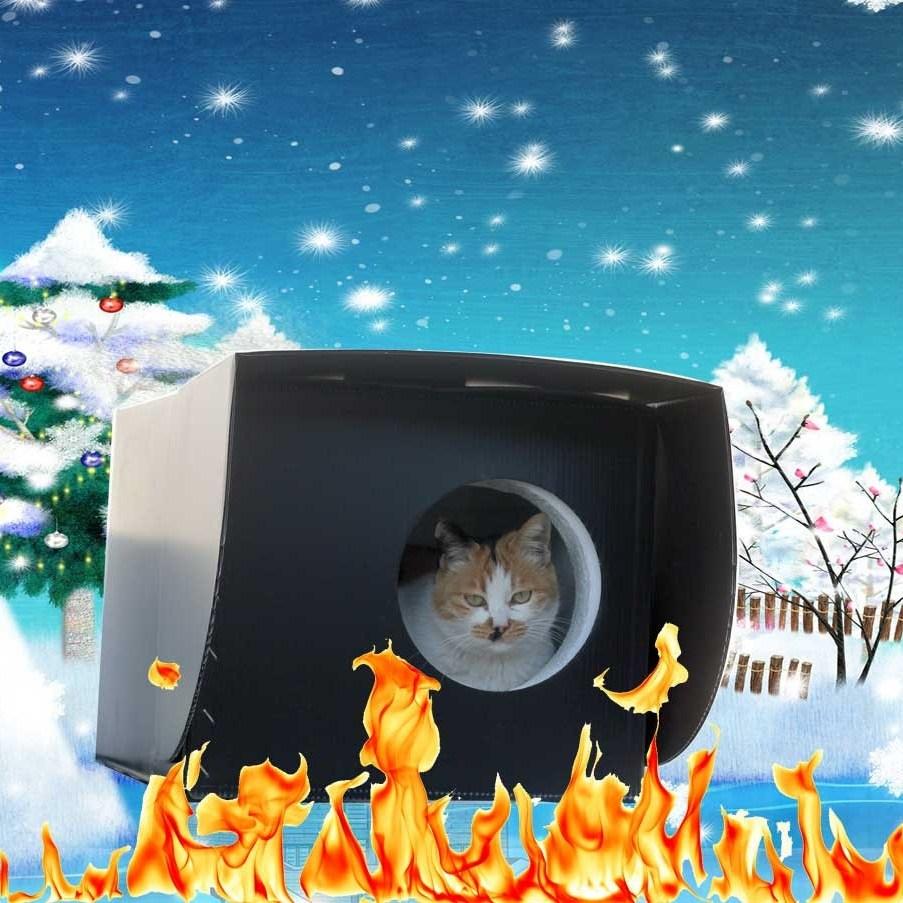캐츠맘 길고양이 겨울집 길냥이집 길고양이집 하우스 국민겨울집, 블랙