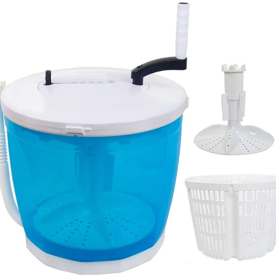 Xedragony 미니세탁기 수동 펫세탁기 야채탈수기 휴대용세탁기탈수기, 미니 수동 세탁기