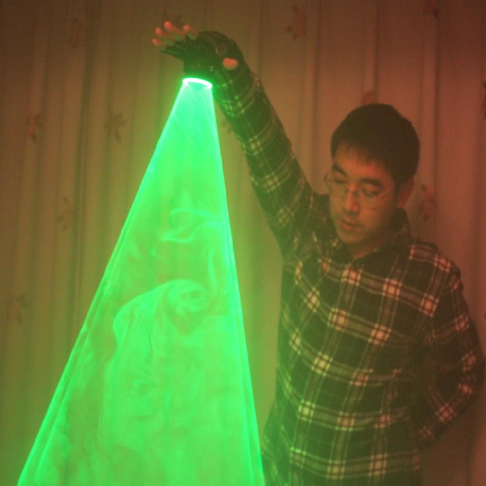 그린 레이저 회오리 바람 핸드 헬드 레이저 대포 DJ 댄스 클럽 회전 레이저 장갑 라이트 펍 파티 레이저 쇼