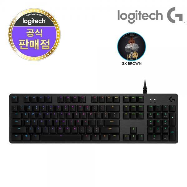 BDY728594[로지텍] 유선 기계식 키보드 G512 GX [로지텍코리아정품] GX Brown Tactile 택틀축 [블랙/USB], 단일색상, 단일옵션