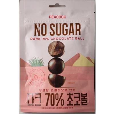 피코크 무설탕 다크70% 초코볼 60g, 1개