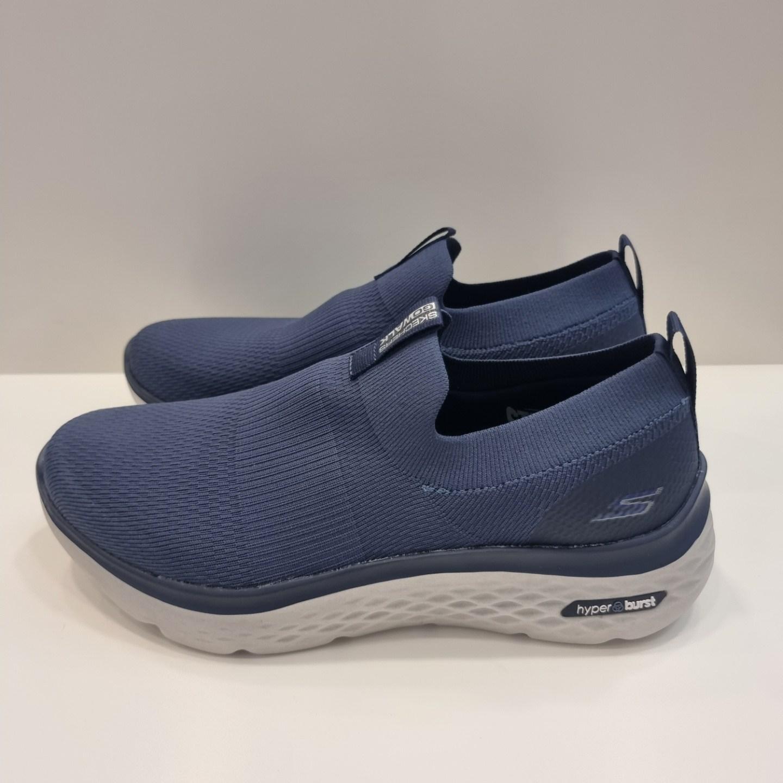 스케쳐스 (쇼핑백증정) sock type 디자인으로 양말처럼 발을 감싸는 착화감 제공/고 워크 하이퍼 버스트 남성워킹화 SP0MW21X014