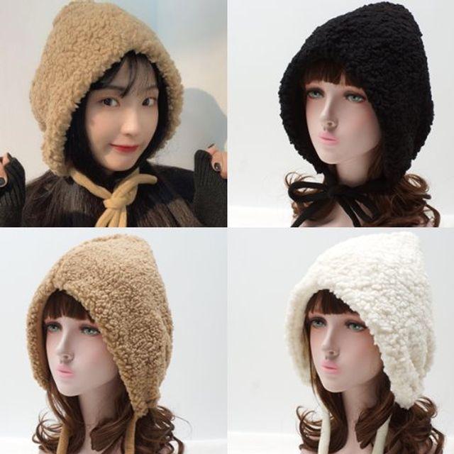 SMC 뽀글뽀글이 보넷 모자 S1351 뽀글뽀글이 겨울 귀도리 털모자