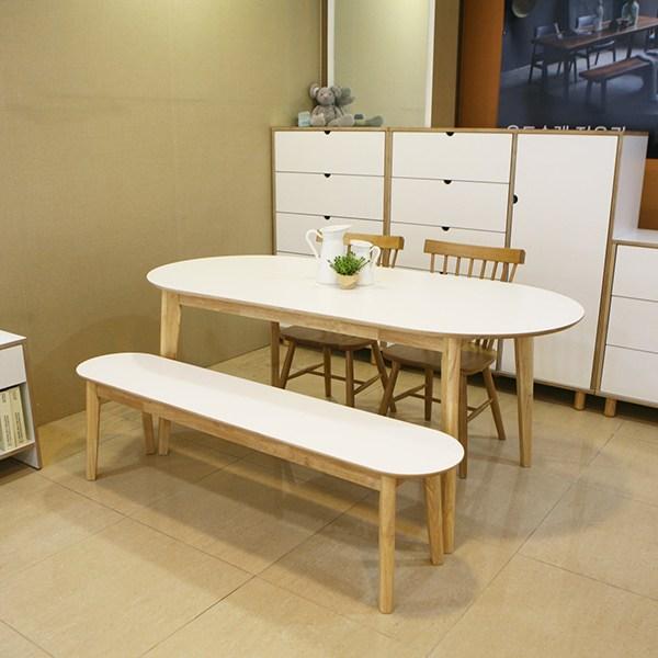 데코룸 러버타원형테이블 식탁 타원형테이블, 180러버타원형테이블