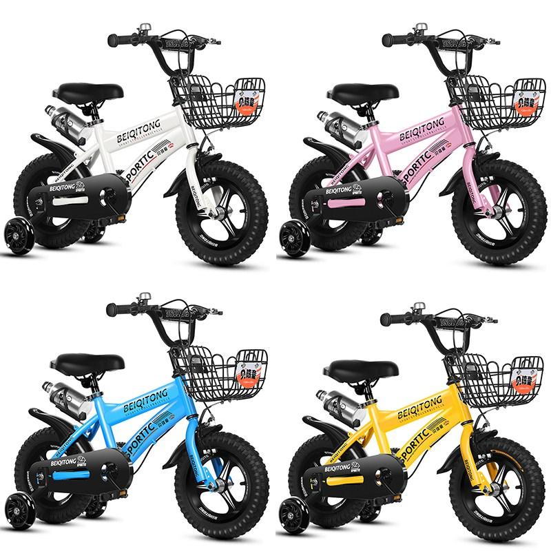 아동 스포츠 보조바퀴 어린이 자전거 12인치14인치16인치18인치 ZXC04, 12인치, zxc04 일체 화이트