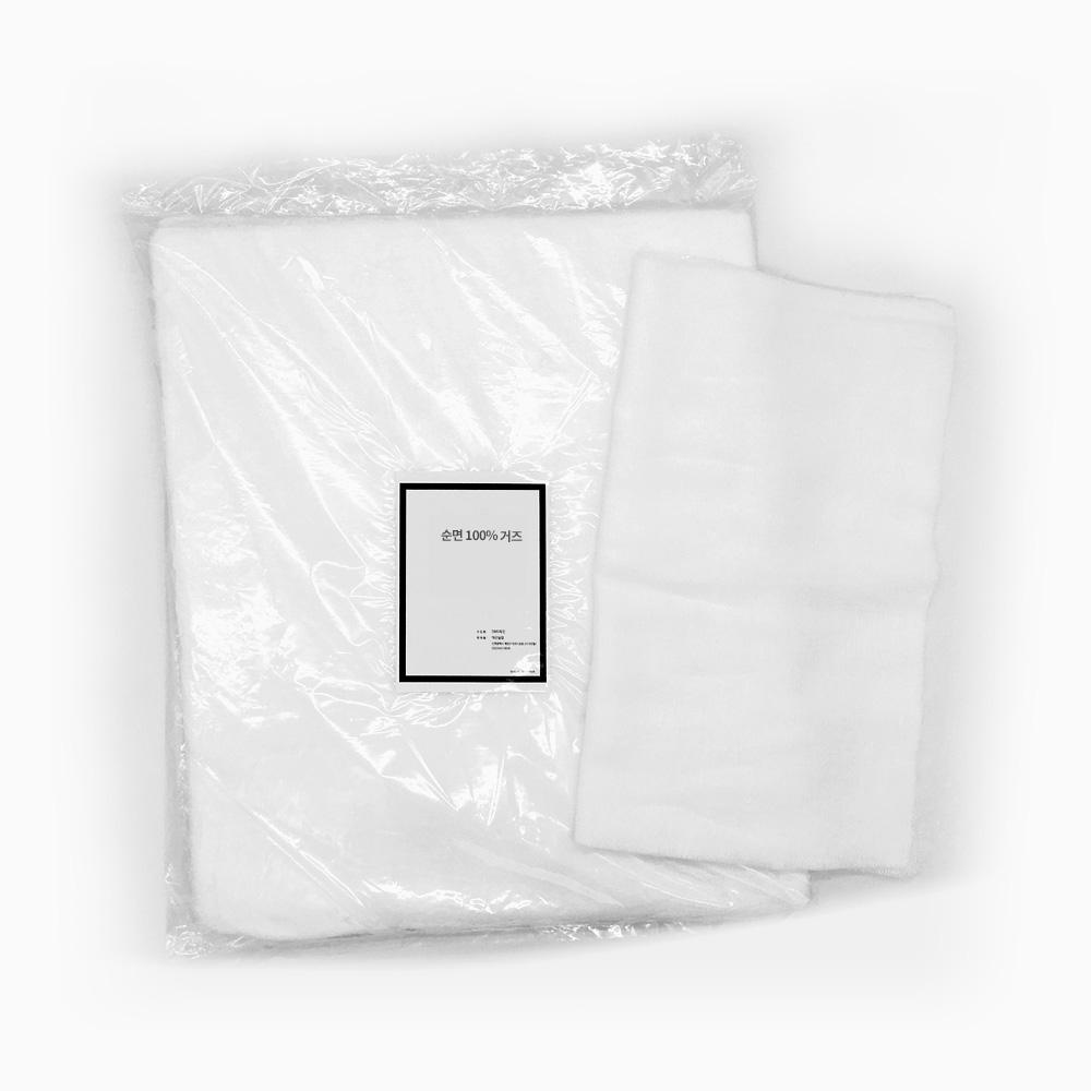 뷰티보라 거즈 (100매) 1SET 30X35cm 마스크팩용, 100매