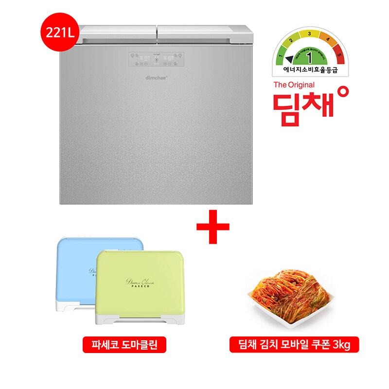 [딤채]무료배송 설치!21년형 김치냉장고 뚜껑형 2룸 LDL22EHWXS (221L/1등급), 단일상품