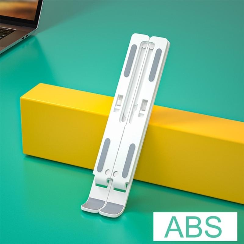 조정 가능한 스탠드베이스 지원 홀더 macbook 용 노트북 받침대 테블릿 거치대, ABS 화이트-18-5764662488