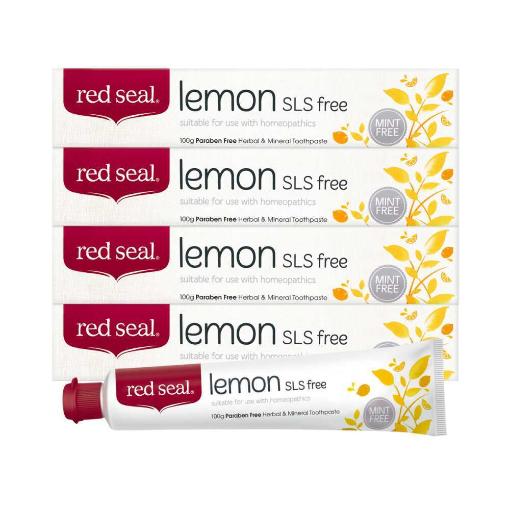 레드씰 레몬 SLS Free 치약 100g x 4 코스트코 정품, 단일상품