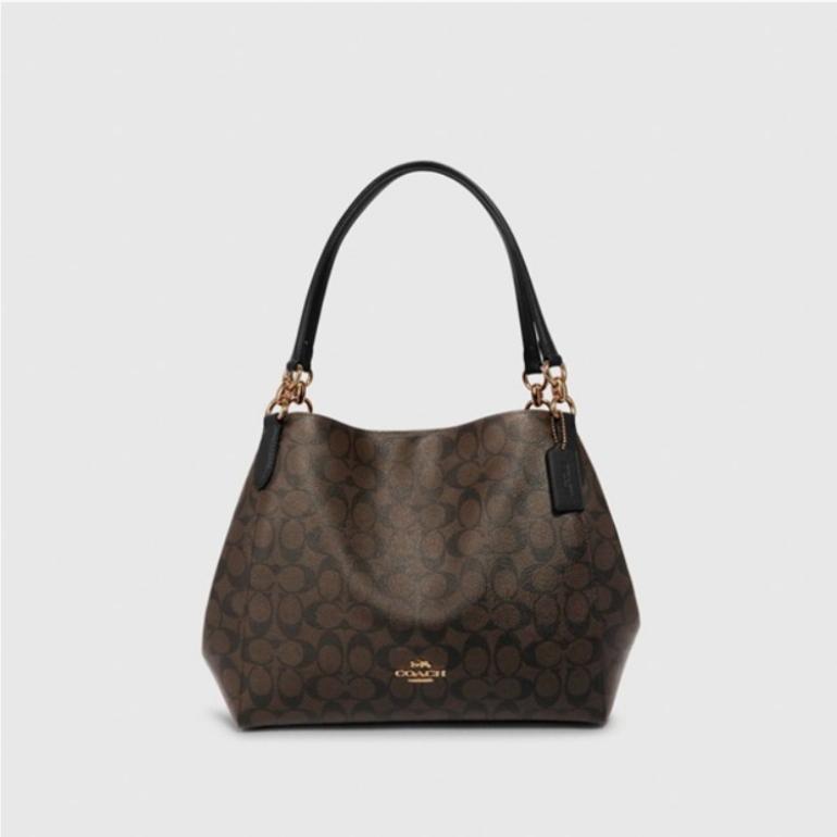 코치 [HAPPYNY]COACH_80298 HALLIE SHOULDER BAG(BLACK BROWN)