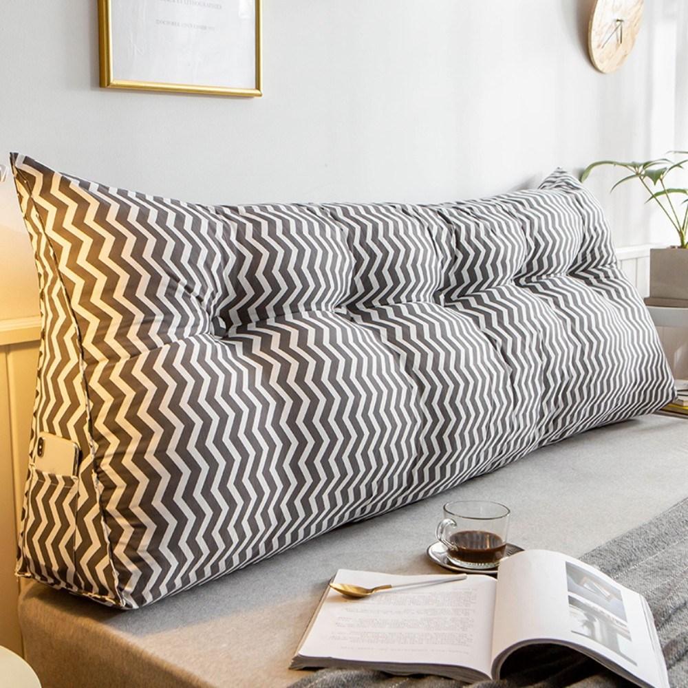 침대등받이쿠션 허리등받이 북유럽 감성 대형 직사각쿠션, K + 길이 150 × 두께 23 × 높이 50cm (POP 2092289032)