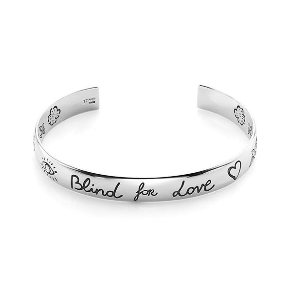 구찌 쥬얼리 YBA454287001 GUCCI BLIND FOR LOVE 실버브레이슬릿