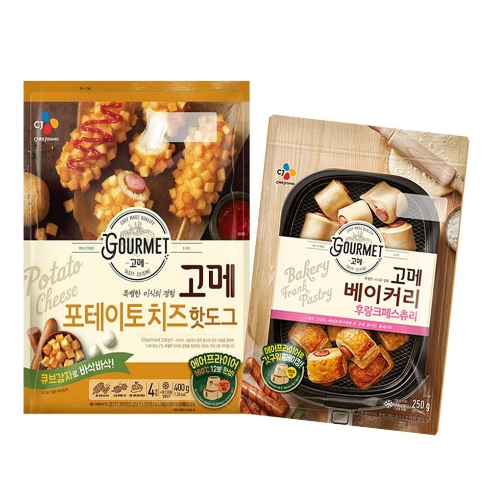 (냉동)고메 후랑크페스츄리250gx1개+포테이토치즈 핫도그400gx1개, 1세트