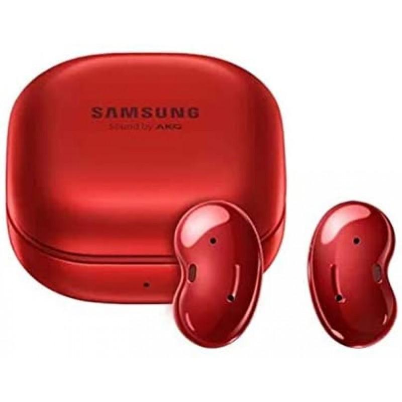 갤럭시 버드 라이브 미스틱 레드 | 액티브 노이즈 캔슬링 기능이있는 진정한 무선 이어 버드 | 무선 충전 케이스 포함 | 한국, 단일옵션, 단일옵션