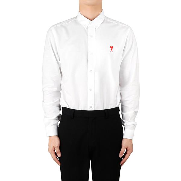 아미 20FW 화이트 하트 로고 옥스포드 셔츠 A20HC013 45 100