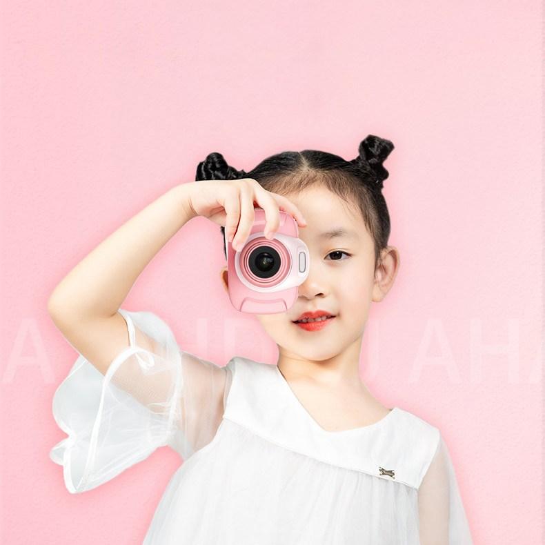 파스텔 스마트어린이카메라 2.0인치 키즈디지털카메라, 2)16G 핑크-2.0인치800W