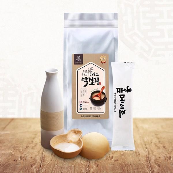오버파워푸드 막걸리 만들기 키트 세트 250gX6개 (15병분량) 수제 현미 쌀 담금 전통주 선물, 단품