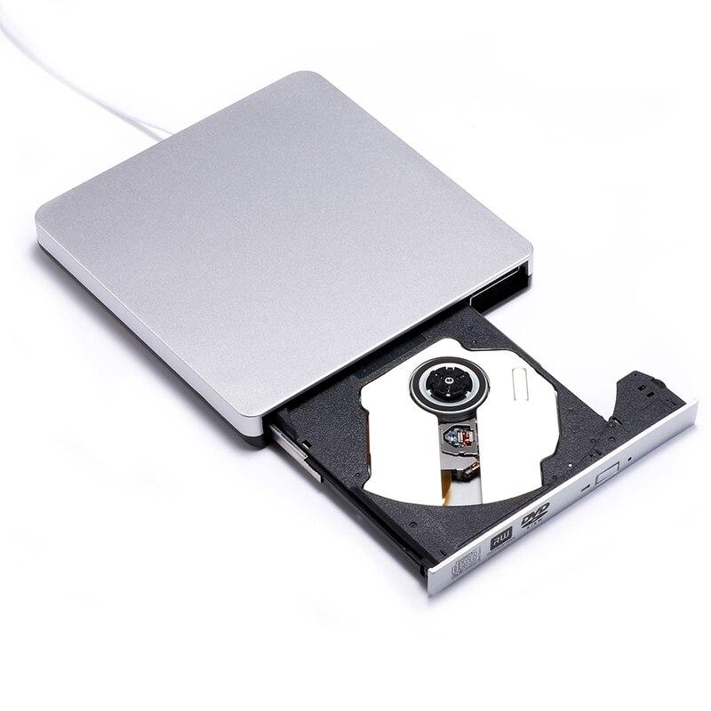 KuWfi USB 2.0 외부 DVD-RW 드라이브 버너 슬림 휴대용 외부 VCD CD DVD 플레이어 노트북 용 광학 드라이브 리더 레코더