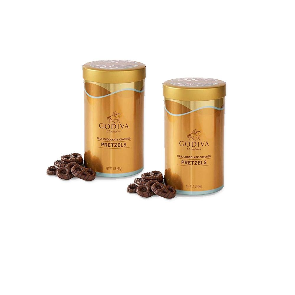 고디바 밀크 초콜릿 커버 프레즐 밀크초콜렛 454g 2개, 단품