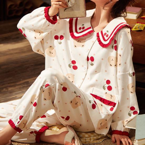 에스니 체리쥬블레 테디베어 파자마 임산부 빅사이즈 잠옷
