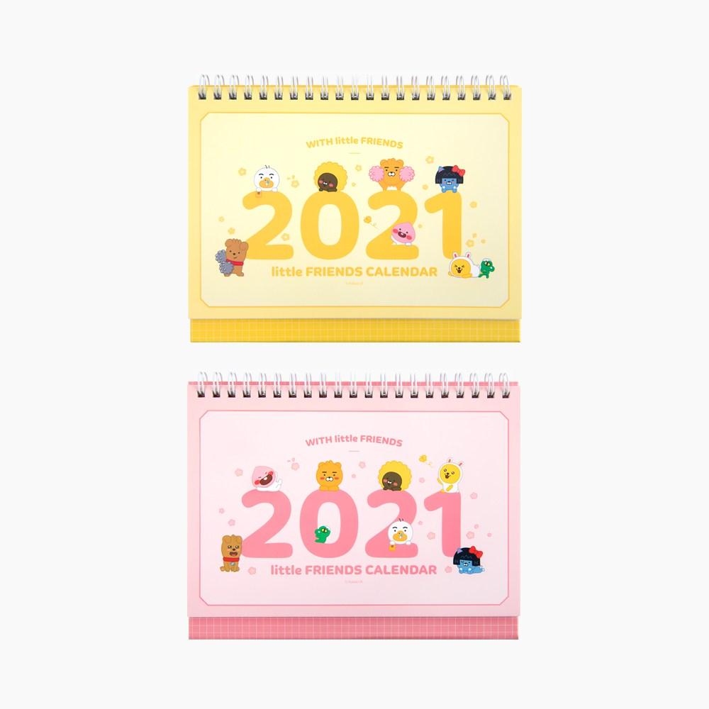 카카오프렌즈 2021년 스몰 탁상 캘린더, 핑크